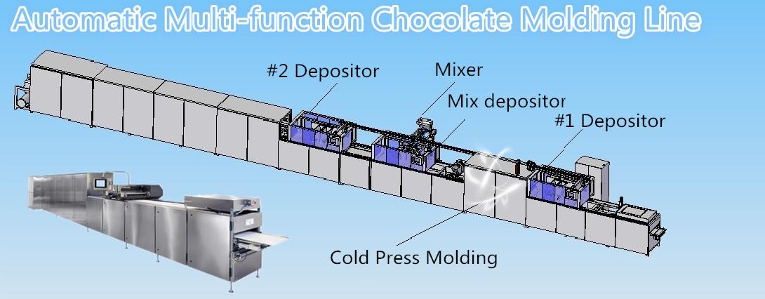 Chocolate production line automatic chocolate wafer enrobing making machine