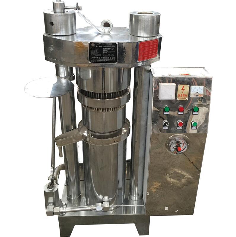 SSS304 Material Automatic Hydraulic Oil Press Small Cocoa Butter Press machine