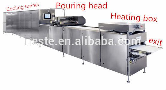Chocolate depositing machine Line Hot chocolate molding machine for KitKat produce