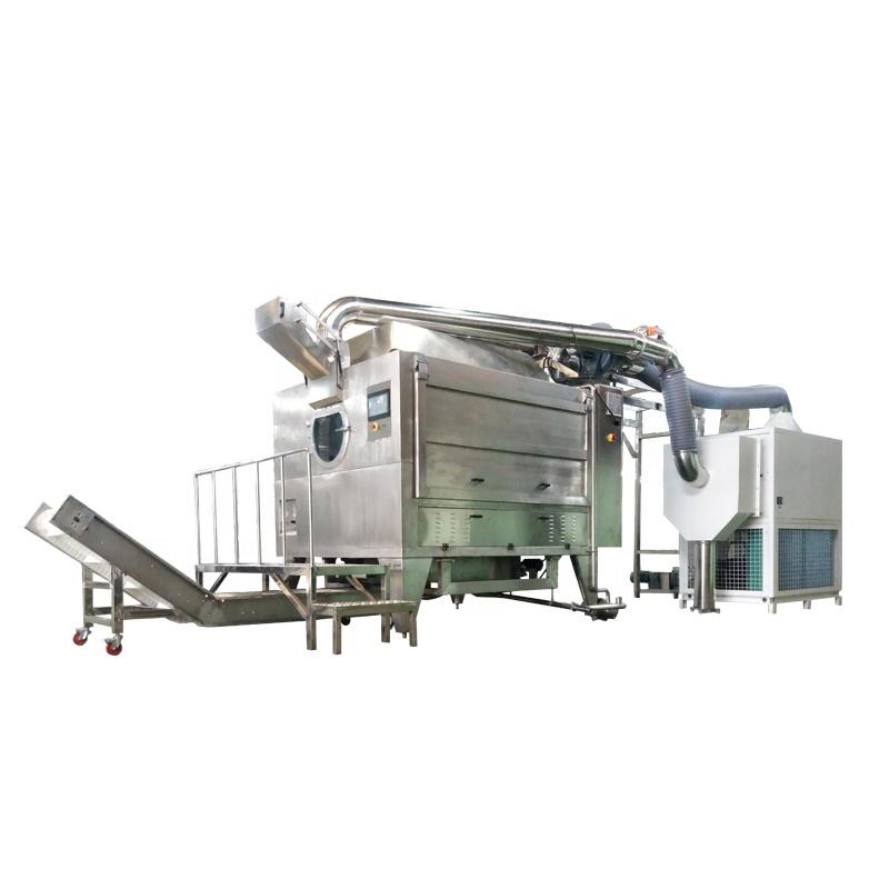 Fully Automatic 400-1000 KG/Batch Rotary-drum Sugar Powder Chocolate Coating Machine